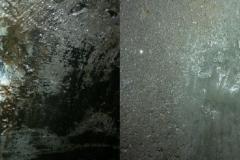 до и после очистки и удаления течи