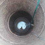 Промытая шахта колодца